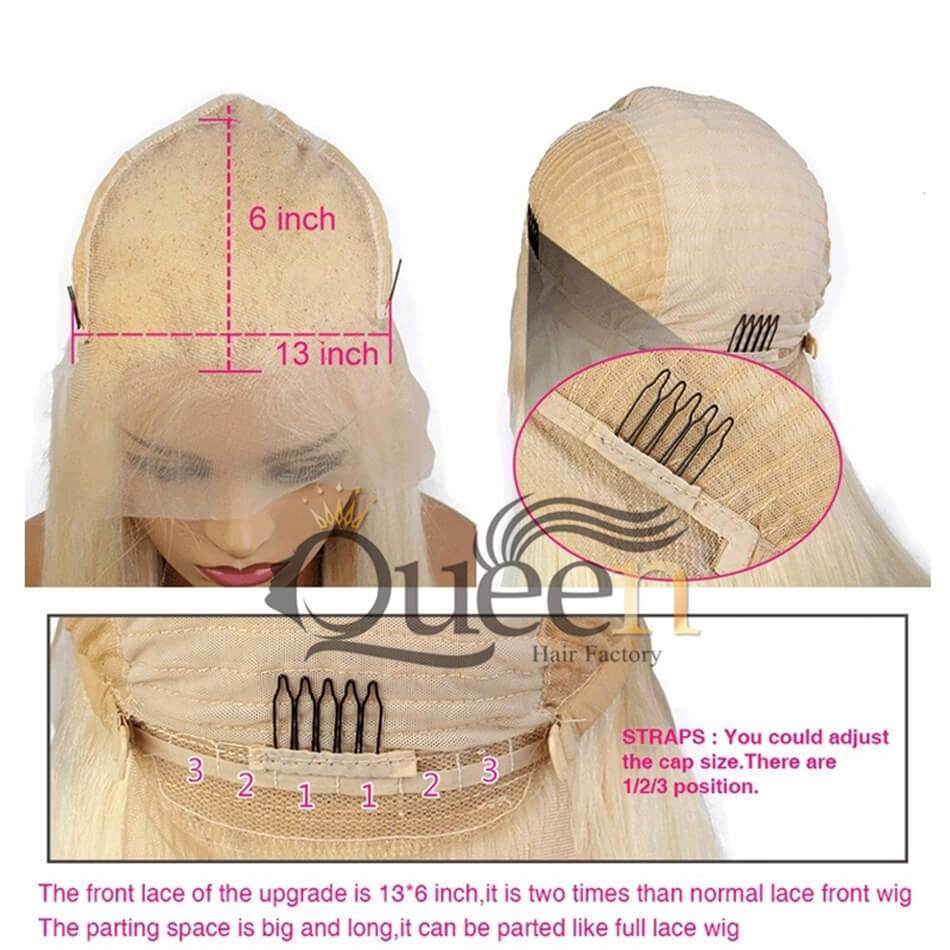 613 Blonde 13 6 Lace Frontal Wig Human Hair Brazilian Remy Blonde Lace Wigs Baby Hair Pre Plucked Hairline