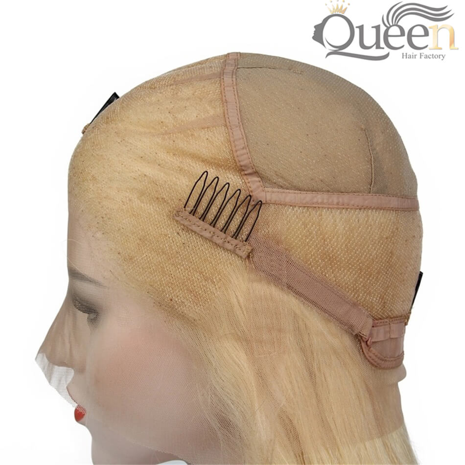 613 Blonde Full Lace Wig Human Hair Brazilian Remy Blonde Lace Wigs Baby Hair Pre Plucked Hairline