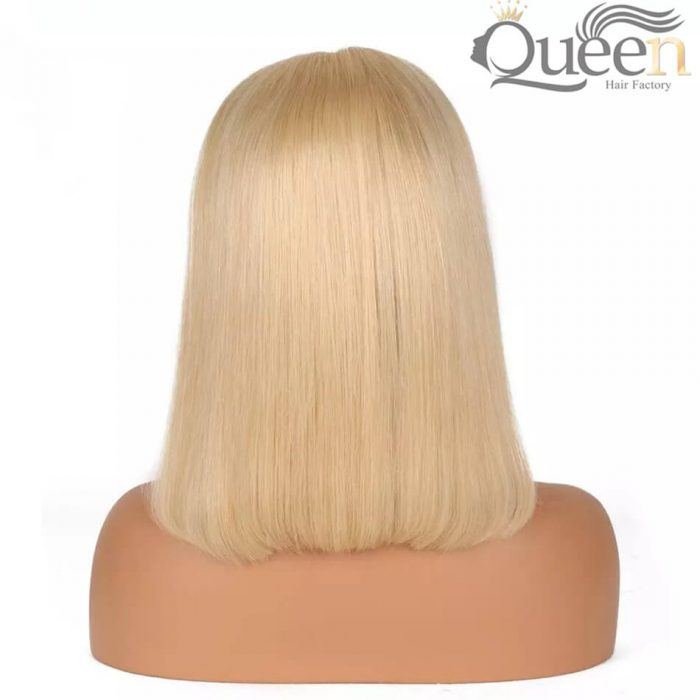 613 Blonde Full Lace Wig Pre Plucked Brazilian Virgin Human Hair Wig Short Bob Wig