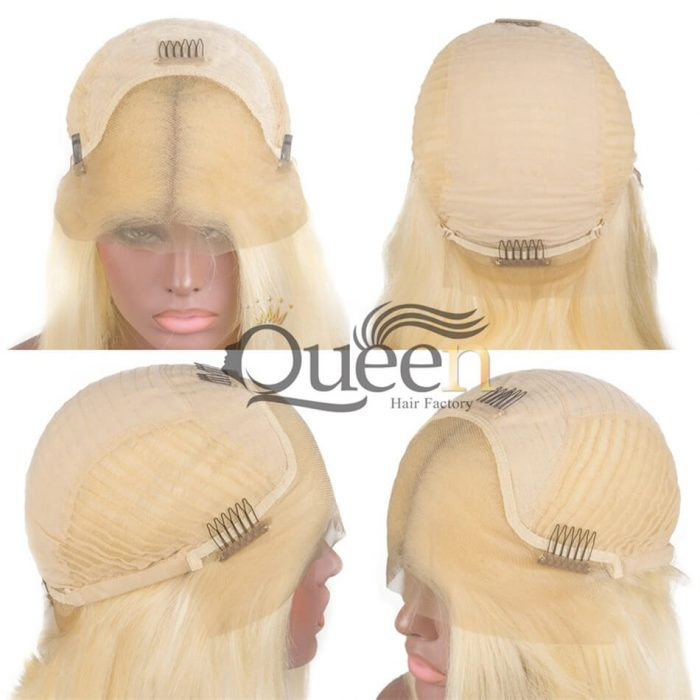 613 Blonde Lace Frontal Wig Human Hair Brazilian Remy Blonde Lace Wigs Baby Hair Pre Plucked Hairline