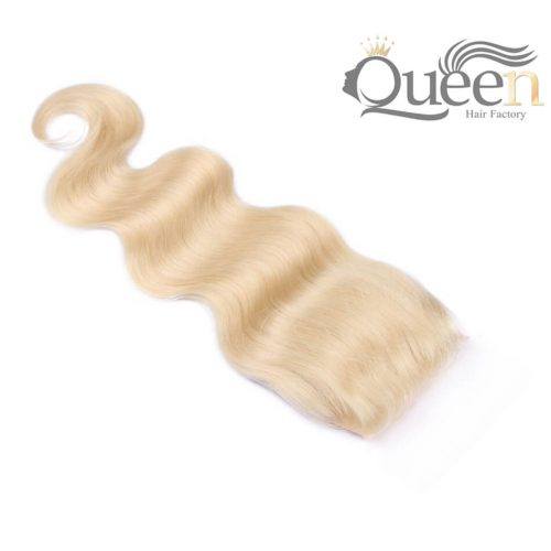 Blonde 613 Brazilian Body Wave Lace Closure Pre-Plucked Remy Hair Extensions Swiss LaceBlonde 613 Brazilian Body Wave Lace Closure Pre-Plucked Remy Hair Extensions Swiss Lace