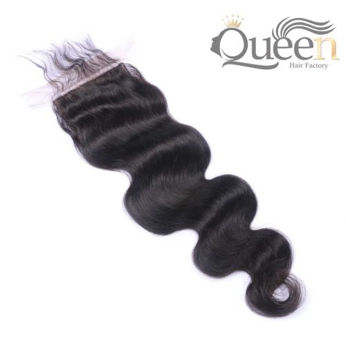 Brazilian Body Wave 44 Lace Closure Human Hair Natural Color