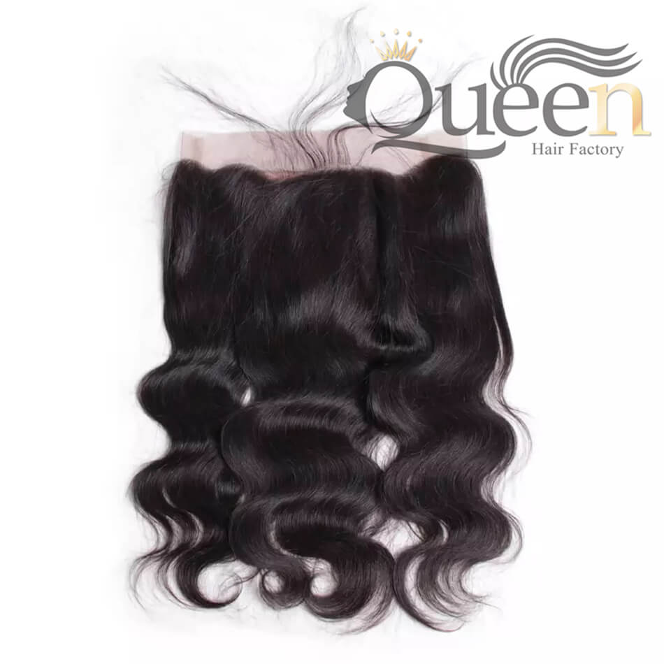 Brazilian Body Wave Pre Plucked 360 Lace Frontal Closure with Baby Hair Remy Human Hair Natural Color