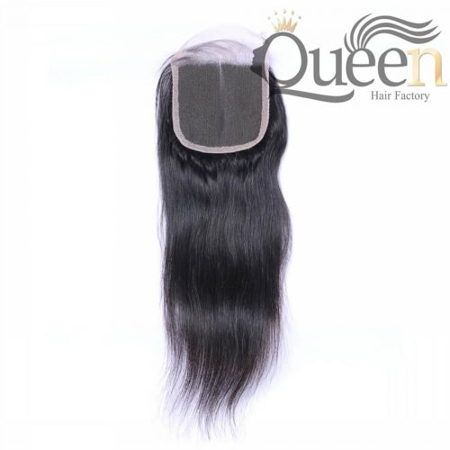 Brazilian Human Hair Straight 4 4 Lace Closure Natural Color
