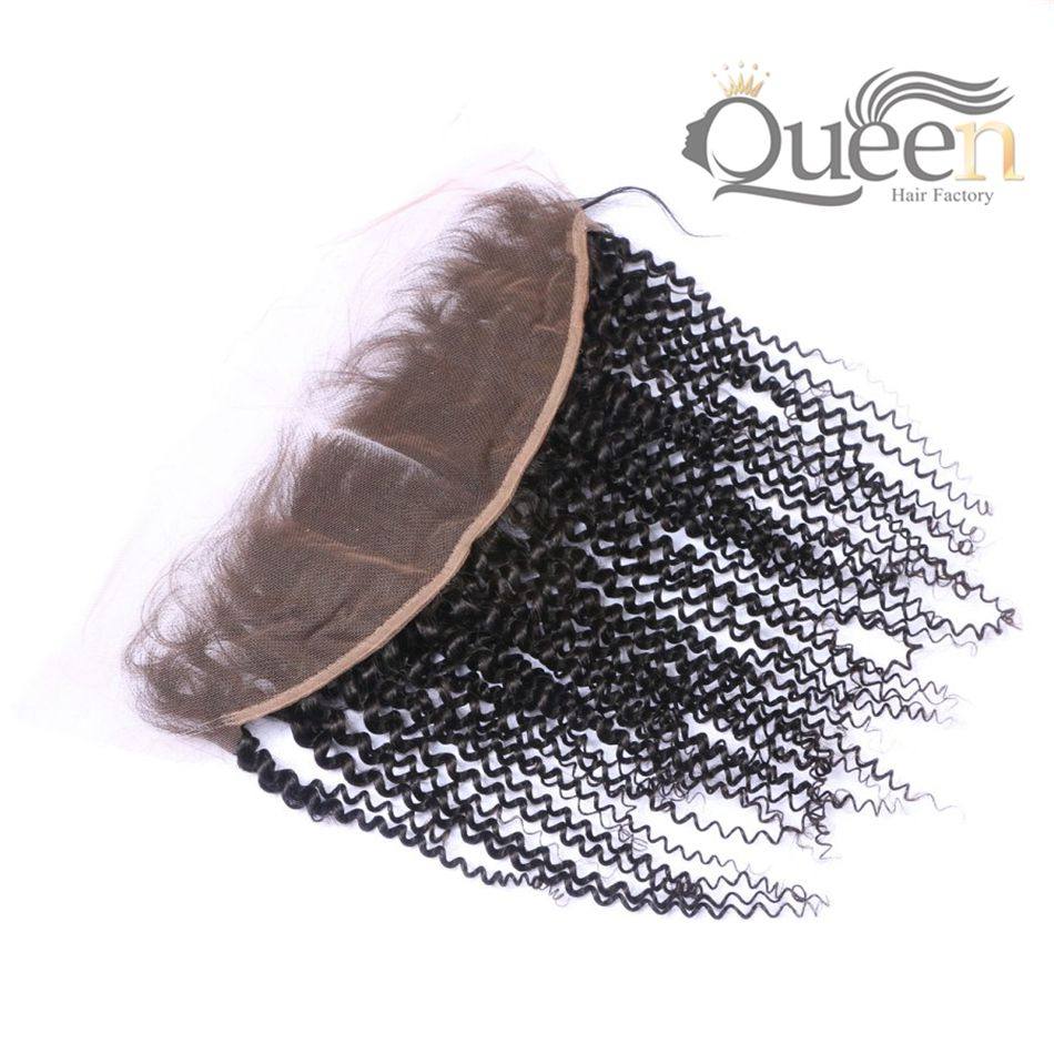 Brazilian Kinky Curly Lace Frontal Natural Color Virgin Human Hair Extensions