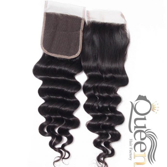 Brazilian Lace Closure New Loose Wave Virgin Human Hair Bleached Knots Swiss Lace