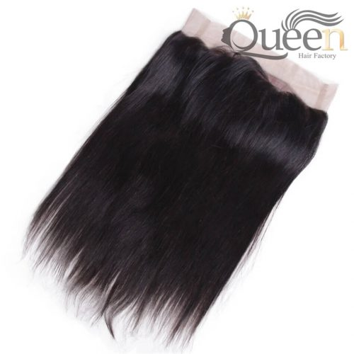 Brazilian Straight Hair 360 Lace Frontal Closure with Baby Hair Remy Human Hair Natural Color