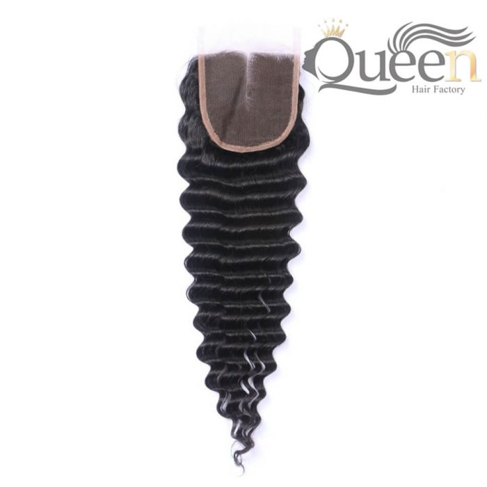 Brazilian Tropical Deep Wave Lace Closure 100% Human Hair Remy Hair 130% Density