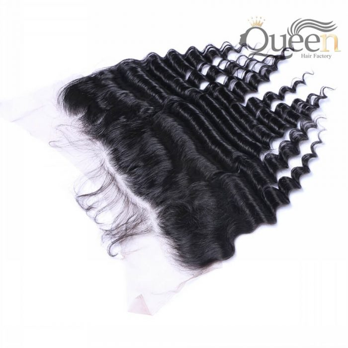 Brazilian Tropical Deep Wave Lace Frontal 100% Human Hair Remy Hair 130% Density