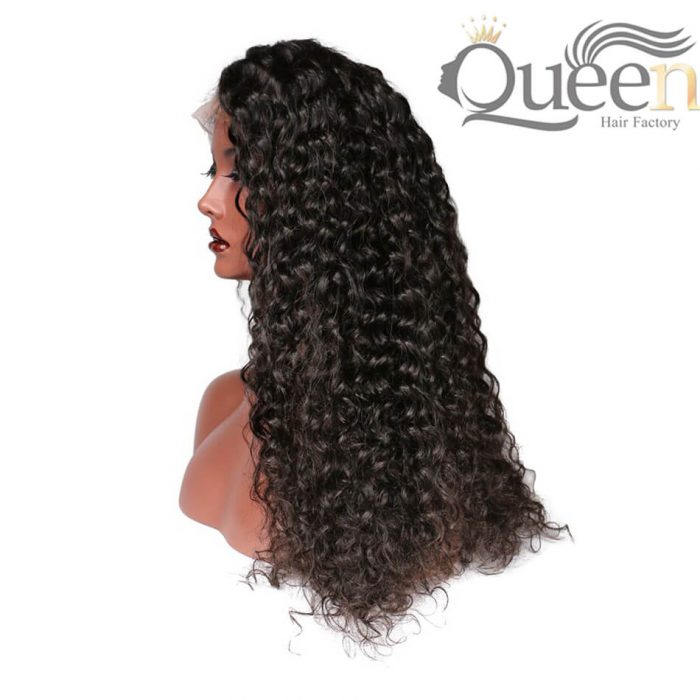 Deep Curly Human Hair Wig With Baby Hair Bleached Knots Brazilian Full Lace Wig