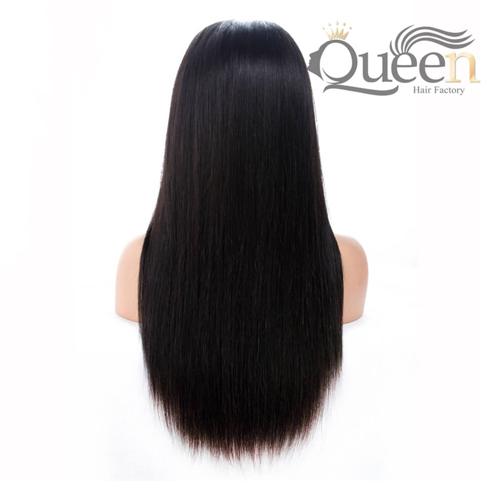 Glueless 13 4 Lace Frontal Human Hair Wig Brazilian Straight Human Remy Wig Pre Plucked