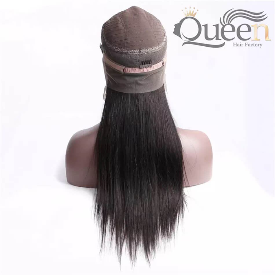 Glueless 360 Lace Wig Human Hair Wig Brazilian Straight Human Remy Wig Pre Plucked
