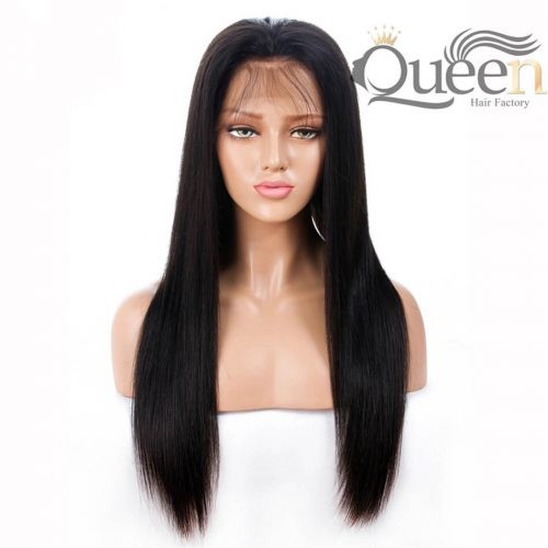 Glueless Full Lace Human Hair Wig Brazilian Straight Human Remy Wig Pre Plucked