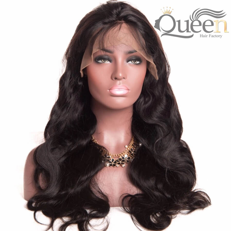 Glueless Full Lace Wig Brazilian Body Wave Remy Human Hair Wig Pre Plucked With Baby Hair