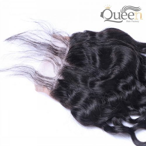 Indian Water Wave Lace Closure 100% Human Hair Swiss Remy Hair Closure 10-20 Inch