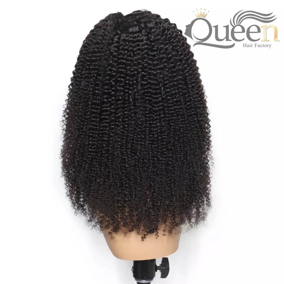 Kinky Curly 13 6 Lace Frontal Wig With Baby Hair Pre Plucked Brazilian Human Hair Wig