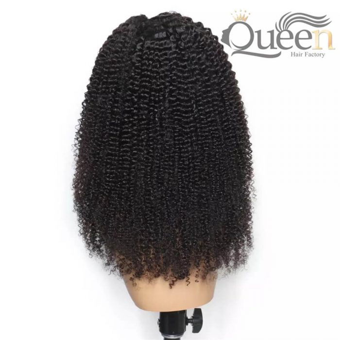 Kinky Curly 360 Lace Wig With Baby Hair Pre Plucked Brazilian Human Hair Wig