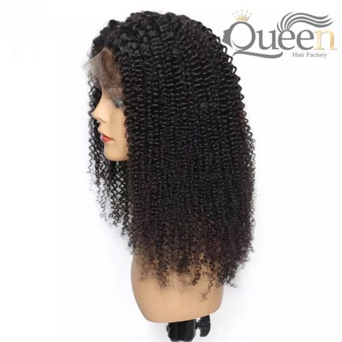 Kinky Curly Full Lace Wig With Baby Hair Pre Plucked Brazilian Human Hair Wig