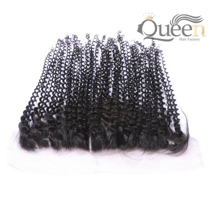 Malaysian Deep Curly Lace Frontal Bleached Knots 13 4 Swiss Lace 100 Human Hair