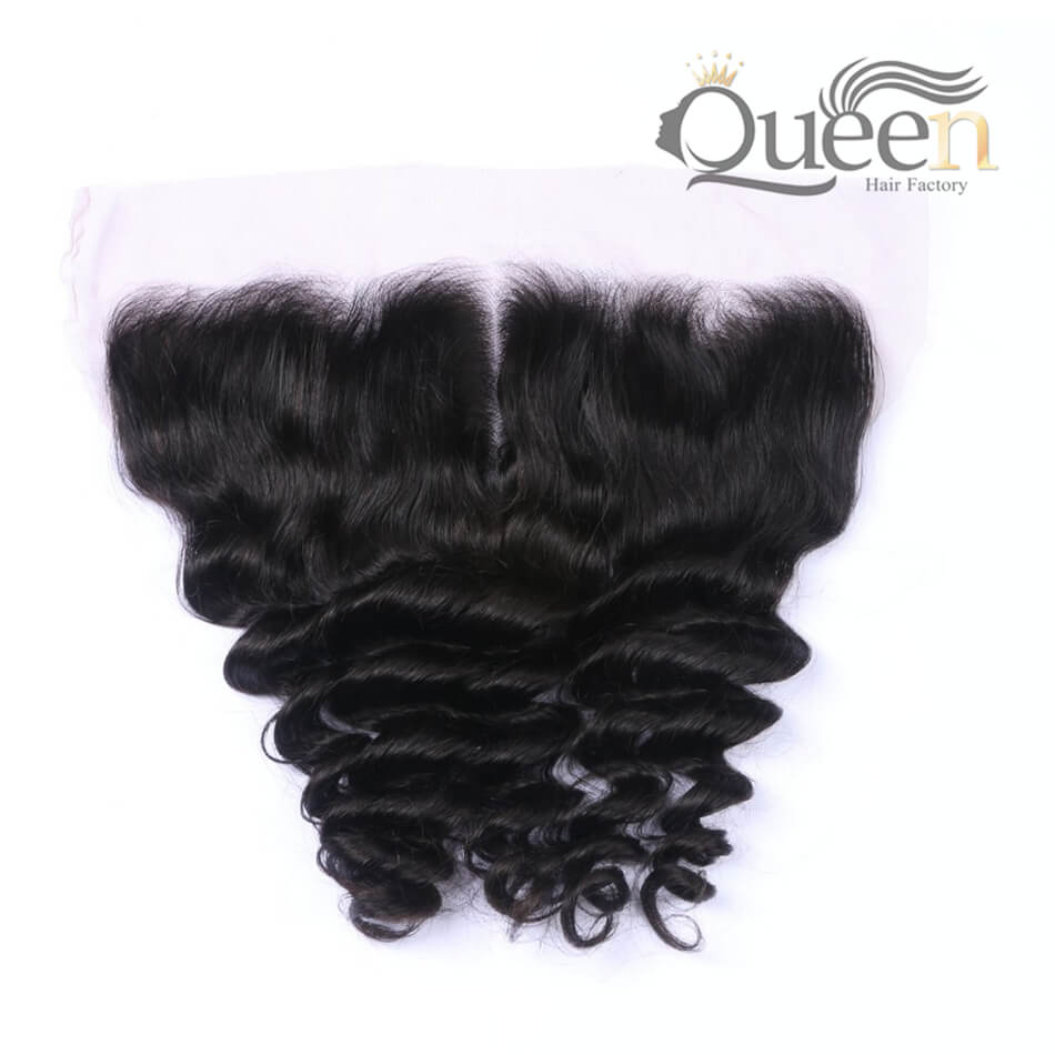 Mongolian 100 Human Hair Loose Wave 10-20 inch 13 4 Lace Frontal Natural Color
